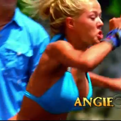 Angie's second motion shot in the intro.