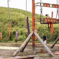 Vanua competing in the fourth Immunity Challenge, <i>Angry Chair</i>.