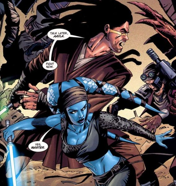 Aayla and her Master Star Wars Aayla Secura And Kit Fisto