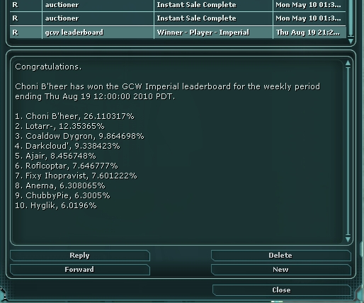 Leaderboard Mail