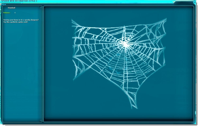 spider web decoration style i swg wiki fandom powered. Black Bedroom Furniture Sets. Home Design Ideas