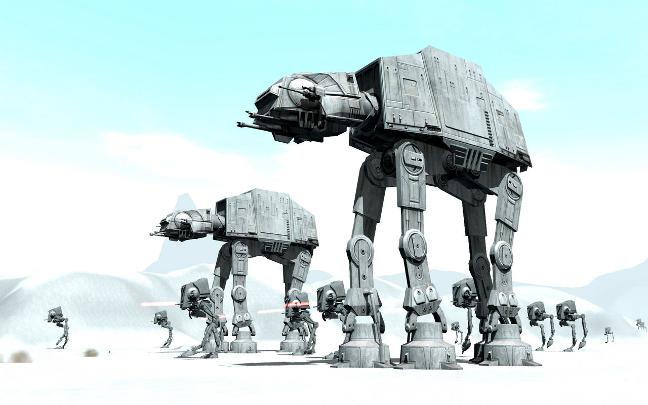 Hoth Battle Wallpaper Hoth Battle Imperial Might in