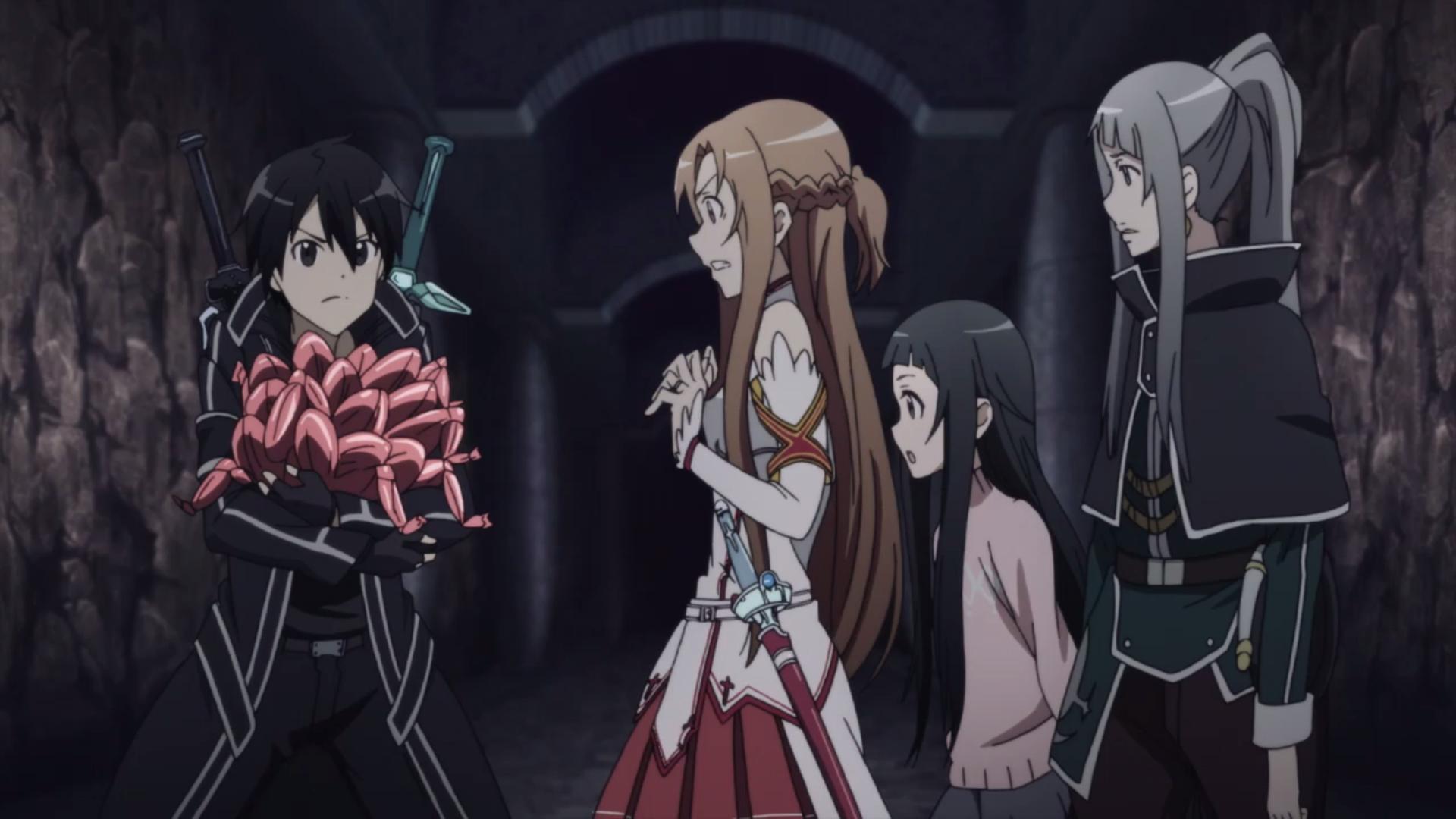 Kirito Froglegs Sword Art Online Asuna And Fighting