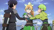 Kirito and company preparing to attack the world tree