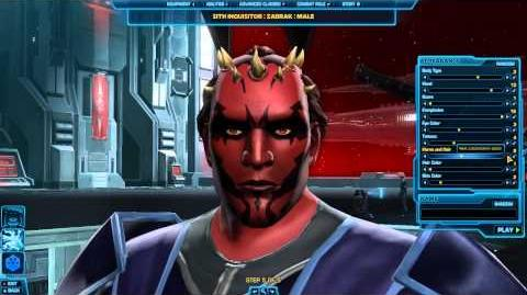 Sith Assasin - Inquisitor - Character Creation - Star Wars The Old Republic