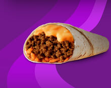 Pdp cheesy double beef burrito
