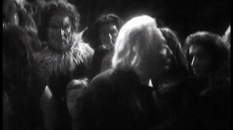 Kal is banished from the tribe - Doctor Who - An Unearthly Child - BBC