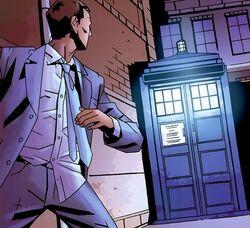 Douglas in the TARDIS