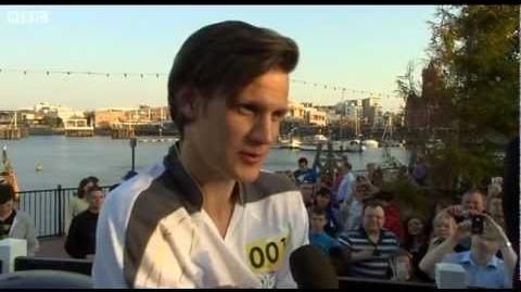 Doctor Who's Matt Smith on Olympic torch relay run - London 2012 - BBC News