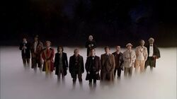 Twelve Doctors Stand Together - The Doctor Dreams - Doctor Who - Day of the Doctor - BBC