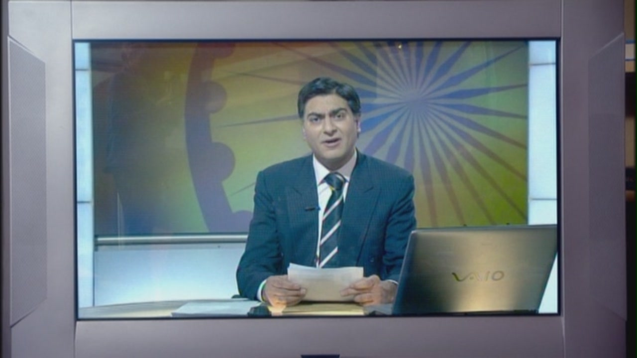 Indian newsreader