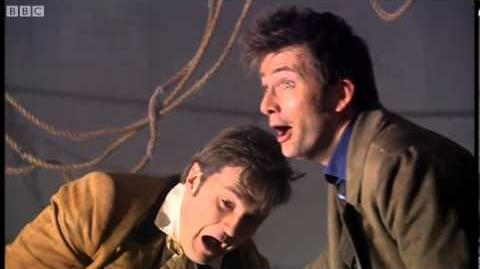 The two Doctors chase a Cybershade - The Next Doctor (2008 Christmas Special) - Doctor Who - BBC