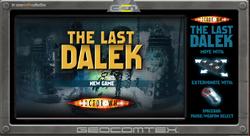 The Last Dalek title screen