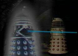 Imperial Dalek under attack