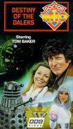 Destiny of the Daleks VHS US cover