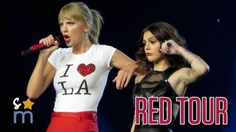 "Taylor Swift & Cher Lloyd - ""Want U Back"" at Staples Center - Red Tour HD"