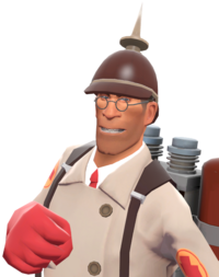 Medic with the Prussian Pickelhaube TF2