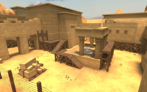 Egypt overlooking a control point TF2