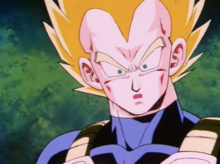 Vegeta realizes Future Trunks is his son