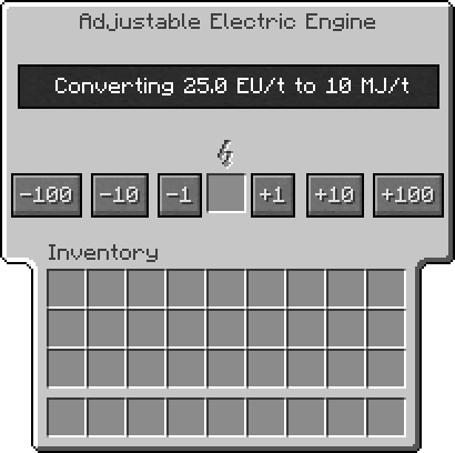 Adjustable-electrical-engine gui