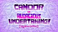 Candor or audacious undertaking slumber party