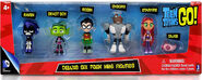 Teen-titans-go-2-inch-action-figure-6-pack-robin-cyborg-raven-beast-boy-star-fire-silkie-new-3
