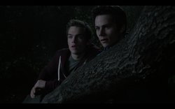 Teen Wolf Season05 Episode02 Parasomnia Liam and Stiles following Theo.png