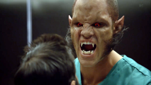 Teen Wolf Season 3 Episode 1 Tattoo Brian Patrick Wade Alpha Ennis Elevator Fight