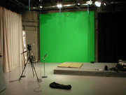 Green screen-half