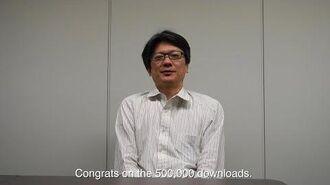 Terra Battle Download Starter 500,000 Downloads Message from Manabu Kusunoki
