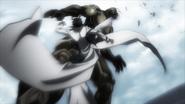 Akari kicking the Desert Locust Terraformar