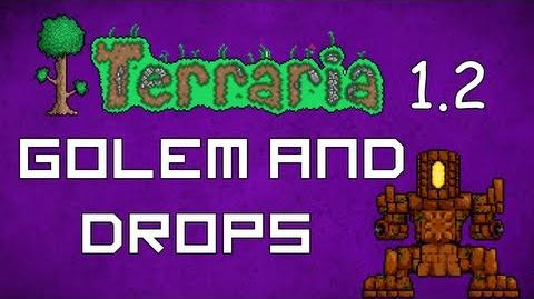 Golem and Drops - Terraria 1