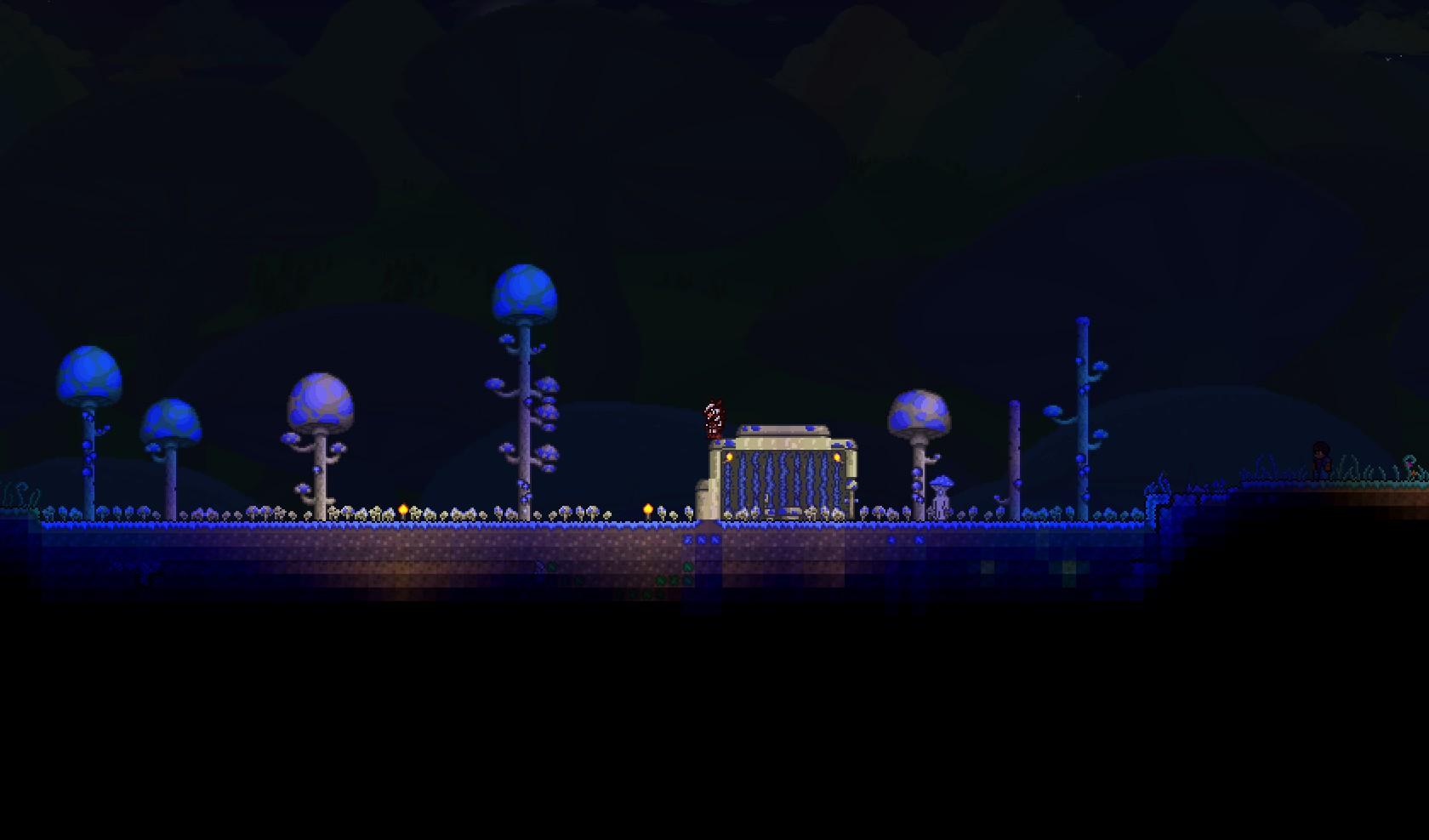 Glowing Mushroom Biome Terraria Wiki Fandom Powered By