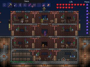 Terraria house defense sand trap