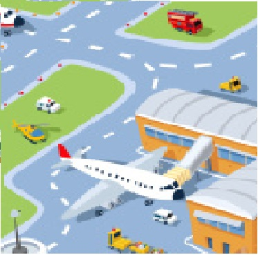 Image - Stock-illustra... Airport Cartoon Images
