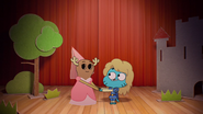 Penny Fitzgerald and Gumball Watterson at the schoolplay on The Shell 8