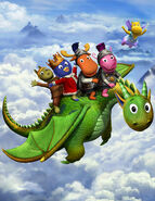 The Backyardigans Dragon Tale of the Mighty Knights Promo Poster 1