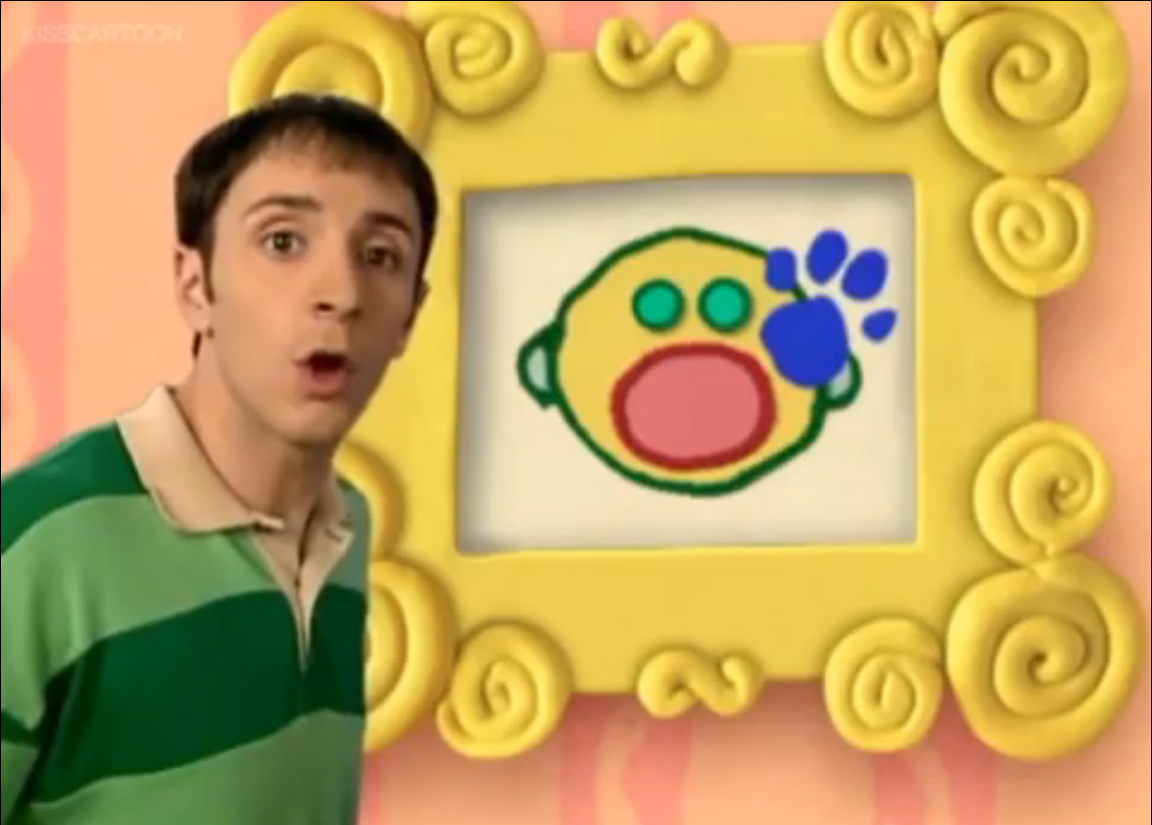 image a clue on the yellow frame jpg blue u0027s clues wiki