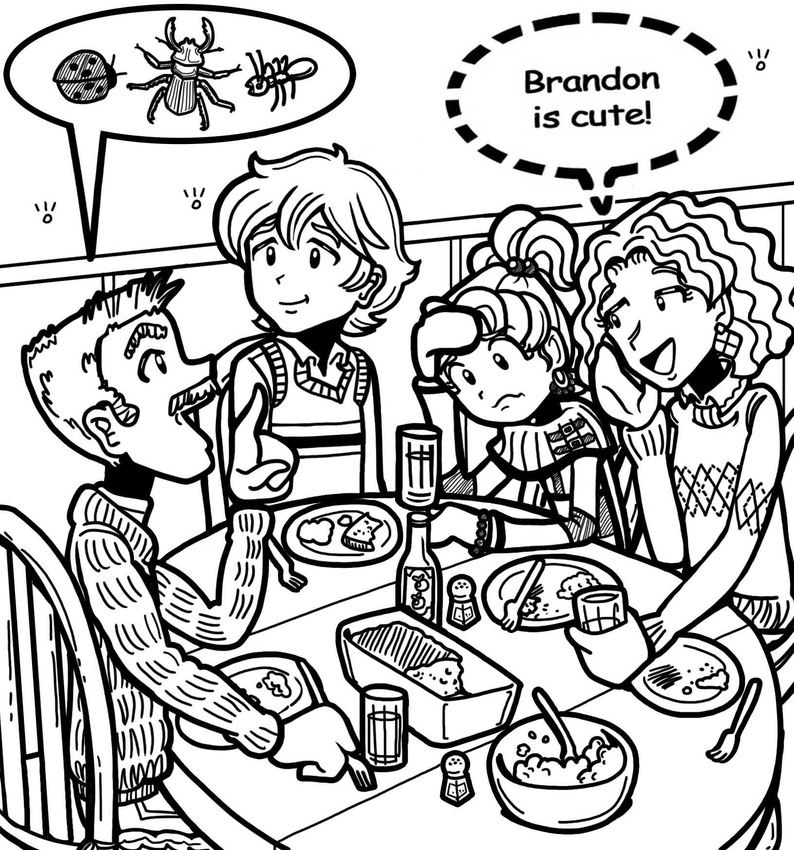 Coloring pages for dork diaries - Filebrandon And Nikki Pic Source