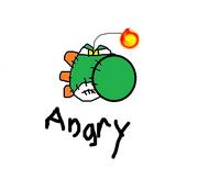 Angry yoshi doll
