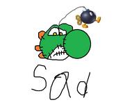 Sad yoshi doll