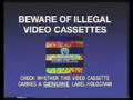 Warner Home Video Piracy Warning (1993) Hologram
