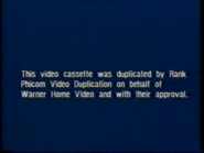 Warner Home Video UK Pre-cert Warning (1980's) (S1)