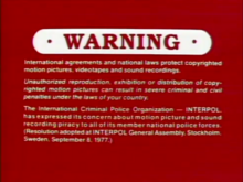 Sony Pictures Home Entertainment (Warning 1) (Part 1)