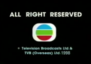 1998 - TVBI Company Limited Copyright Screen in English