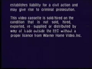 Warner Home Video Warning Screen (1995) (S2)