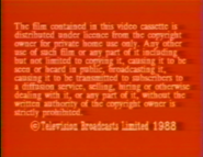 1988 HK-TVB International Limited Warning screen (in English)