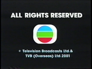 2001 - TVBI Company Limited Copyright Screen in English