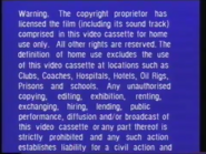 Warner Home Video Warning Screen (1980) (S2)