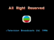 1996 - TVB International Limited Copyright Screen in English